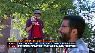 Library board, protestors clash over future of Downtown library building - Video