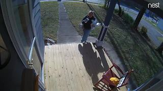 Woman caught stealing from mailbox in Irvington - Video