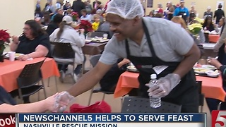 Nashville Rescue Mission Serves Up Thanksgiving Meal - Video