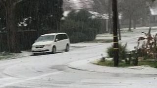Hail Falls Like Snow Across Sacramento - Video