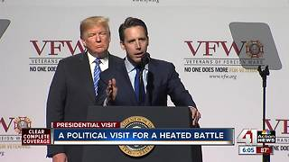 Trump in KC: A political visit for a heated Senate battle - Video