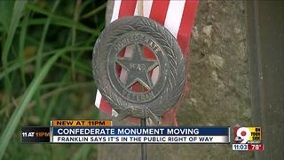 Confederate monument moving from Franklin - Video