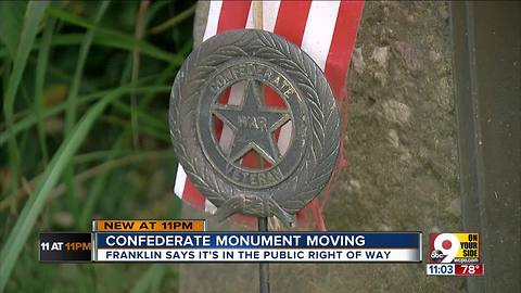 Confederate monument moving from Franklin