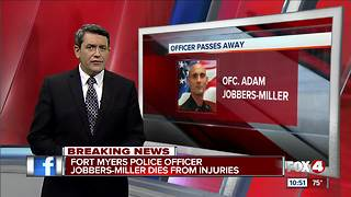Fort Myers Police Officer Jobbers-Miller dies from injuries - Video