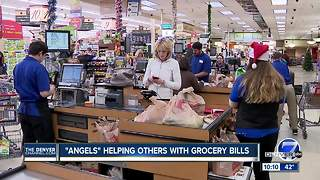 'Angels' helping others with grocery bills - Video