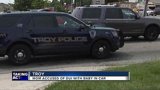 Mom accused of drunk driving with baby in the car