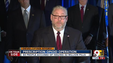 Feds: Ky., Ohio doctors among 60 charged in opioid operation