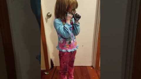 Girl Covered in Food Coloring Denies Getting Into Food Coloring
