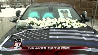 Michigan flags lowered to honor fallen police officers