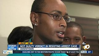 Not guilty verdict in resisting arrest case - Video