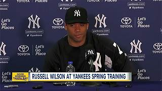Seahawks QB Russell Wilson works out with Yankees in Tampa