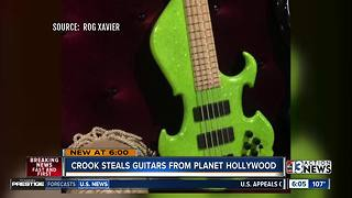 Musician's guitars stolen from Planet Hollywood