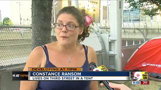 Downtown homeless stare down approaching evacuation deadline - Video