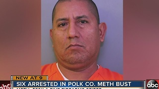 Six arrested in Polk County meth bust