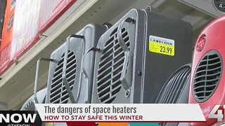 Use caution when using space heaters during winter season - Video