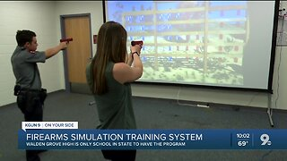 Firearms simulation training system for students