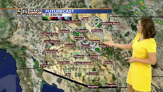 Another warm day in the Valley, highs just below 110 - Video