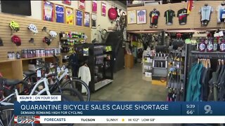 Quarantine spike in bicycle sales causes shortage in supply