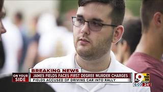 James Fields faces first degree murder charge - Video