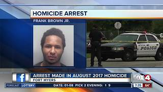 Fort Myers man arrested in connection with August shooting death - Video