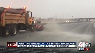 MoDOT looking to hire 40 maintenance workers ahead of winter season