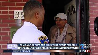 Grandmother one of seven killed in Baltimore since Thursday - Video