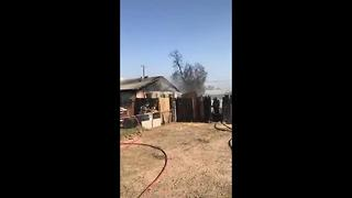 TFD working eastside house fire - Video