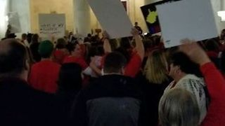 Teachers Raise a Ruckus at West Virginia State Capitol - Video