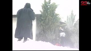 Snow blanketed Bakersfield January 25, 1999 - Video