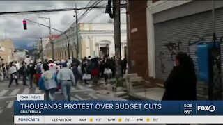 Protest break out over budget cuts in Guatemala
