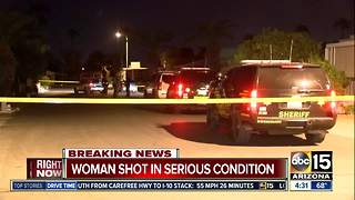 MCSO: Woman shot near Gilbert - Video