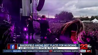Bakersfield among the 'Best Places for Musicians'