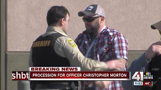 Officers form procession for Officer Morton - Video