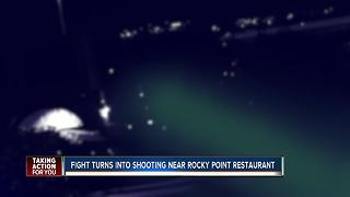 Police search for suspects in apartment shooting