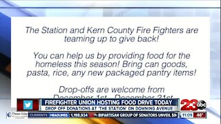 Kern County Firefighter's Union hosting food drive in honor of Giving Tuesday