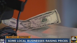 Small businesses forced to raise prices