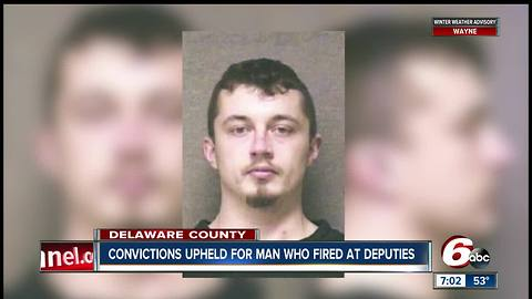 Conviction upheld for man who fired at deputies