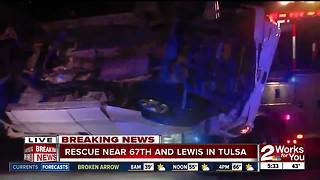 Man rescued near 67th Lewis - Video