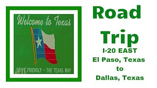 ROAD TRIP from El Paso to Dallas # Travel to TEXAS