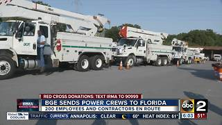 BGE sending power crews to help clean up after Irma - Video