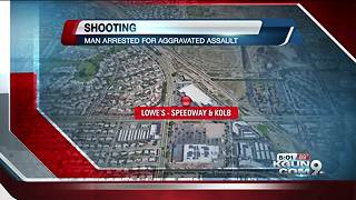 Man arrested following east side parking lot shooting - Video