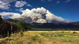 Timelapse Shows Smoke Flowing From Hayden Pass Fire - Video