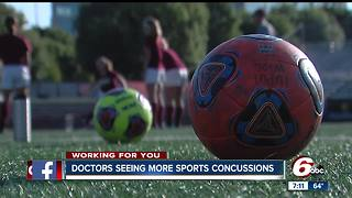 Indiana doctors report more sports concussions - Video