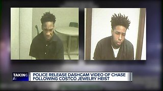 Police release dashcam video of chase following Costco jewelry heist