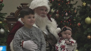 Dozens of Kids Get Breakfast with Santa - Video