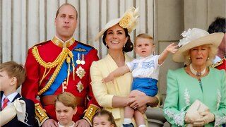 Prince Louis looks royal unimpressed at his first public appearance