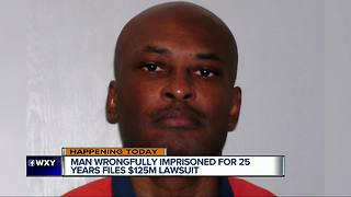 Detroit man wrongfully imprisoned for 25 years files $125 million suit - Video
