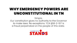 Why Emergency Powers are Unconstitutional in Tennessee