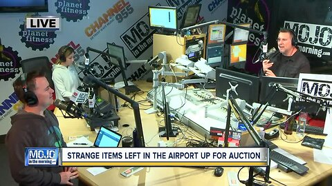 Mojo in the Morning: Strange items left in airport up for auction