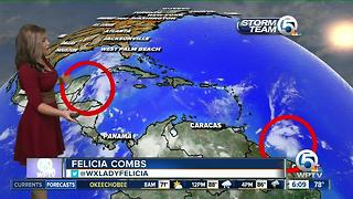 Two tropical disturbances have a chance to develop - Video